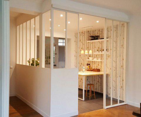 exceptional porte accordeon sur mesure 14 verriere ral 9010 sable porte. Black Bedroom Furniture Sets. Home Design Ideas