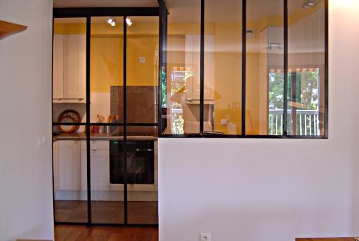 verri re coulissante 3 panneaux verri re pinterest. Black Bedroom Furniture Sets. Home Design Ideas
